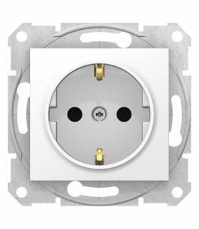 Sedna Gniazdo SCHUKO z przesłonami szybkozłączki biały Schneider SDN3001721