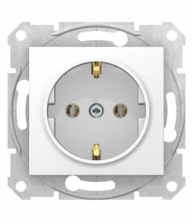 Sedna Gniazdo SCHUKO szybkozłączki biały Schneider SDN3001821
