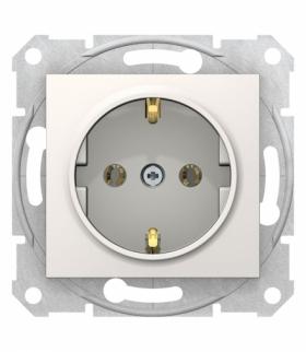 Sedna Gniazdo SCHUKO szybkozłącza kremowe Schneider SDN3001823