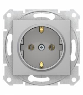 Sedna Gniazdo SCHUKO szybkozłącza aluminium Schneider SDN3001860