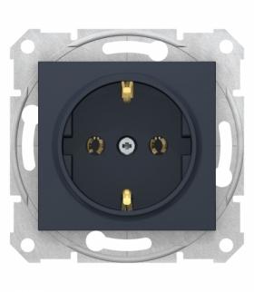 Sedna Gniazdo SCHUKO szybkozłącza grafit Schneider SDN3001870