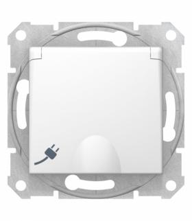 Sedna Gniazdo pojedyncze Schuko z klapką biały Schneider SDN3100121