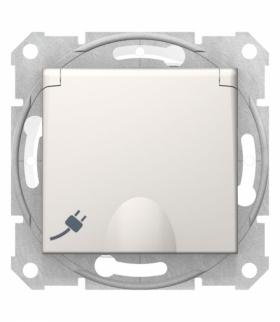 Sedna Gniazdo pojedyncze Schuko IP44 krem Schneider SDN3100323