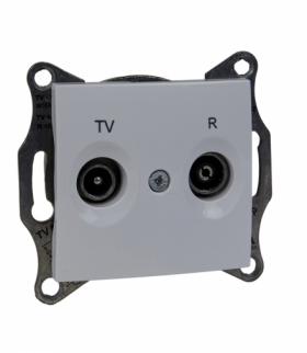Sedna Gniazdo R/TV przelotowe (8dB) biały Schneider SDN3301321