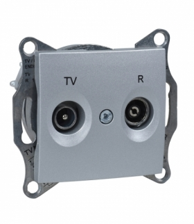 Sedna Gniazdo R/TV przelotowe (8dB) aluminium Schneider SDN3301360