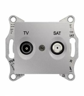Sedna Gniazdo TV/SAT końcowe (1dB) aluminium Schneider SDN3401660