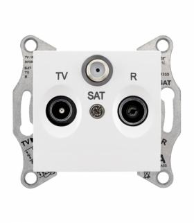 Sedna Gniazdo R/TV/SAT końcowe (1dB) biały Schneider SDN3501321