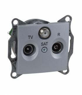 Sedna Gniazdo R/TV/SAT końcowe (1dB) aluminium Schneider SDN3501360
