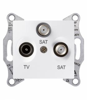 Sedna Gniazdo TV/SAT/SAT końcowe (1dB) biały Schneider SDN3502121