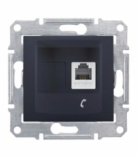 Sedna Gniazdo telefoniczne RJ11 grafit Schneider SDN4101170