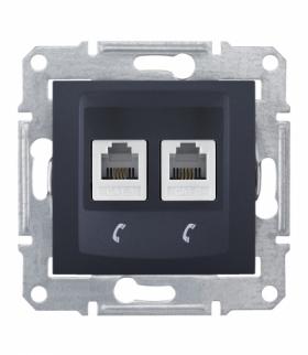 Sedna Gniazdo telefoniczne 2x RJ11 grafit Schneider SDN4201170
