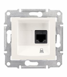 Sedna Gniazdo komputerowe RJ45 kat.5e UTP krem Schneider SDN4300123