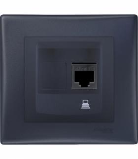 Sedna Gniazdo komputerowe RJ45 kat.5e UTP (DIY) grafit Schneider SDN4300270