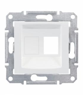 Sedna Płytka centralna 1x RJ45 do: AMP, Molex, Keline biały Schneider SDN4300621