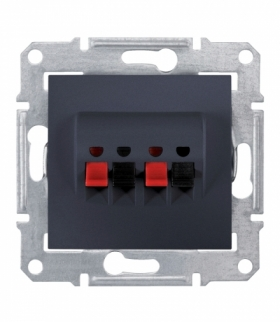 Sedna Gniazdo głośnikowe podwójne grafit Schneider SDN5400170
