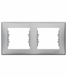Sedna Ramka 2-krotna pozioma aluminium Schneider SDN5800360