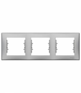 Sedna Ramka 3-krotna pozioma aluminium Schneider SDN5800560