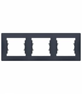 Sedna Ramka 3-krotna pozioma grafit Schneider SDN5800570