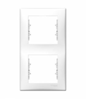 Sedna Ramka 2-krotna pionowa biały Schneider SDN5801121