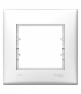 Sedna Ramka 1-krotna IP44 biały Schneider SDN5810521