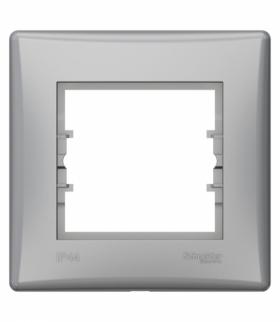 Sedna Ramka 1-krotna IP44 aluminium Schneider SDN5810560