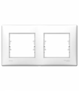 Sedna Ramka 2-krotna poziom IP44 biały Schneider SDN5810621