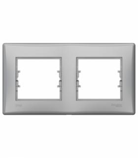 Sedna Ramka 2-krotna pozioma IP44 aluminium Schneider SDN5810660