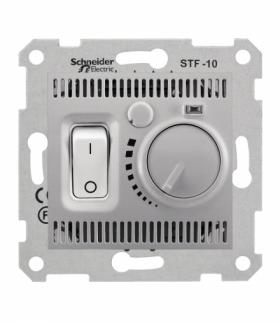 Sedna Regulator temperatury podłogowy aluminium Schneider SDN6000360
