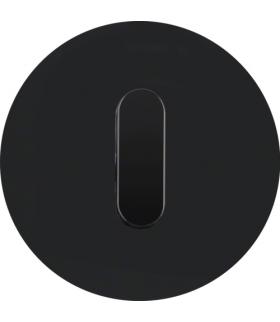 R.classic Płytka czołowa z pokrętłem do łącznika obrotowego, szkło, czarny Berker 1001205500