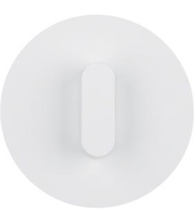 R.classic Płytka czołowa z pokrętłem do łącznika obrotowego, biały, połysk Berker 1001208900