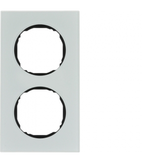 R.8 Ramka 2-krotna,  szkło,  biały Berker 10122609