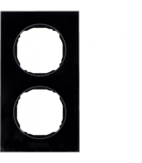 R.8 Ramka 2-krotna,  szkło,  czarny Berker 10122616