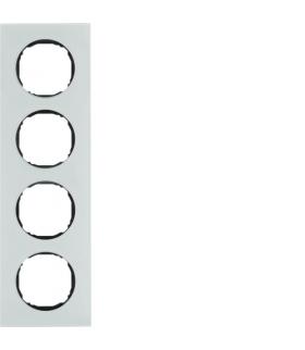 R.8 Ramka 4-krotna,  szkło,  biały Berker 10142609