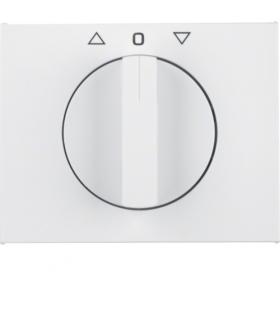 K.1 Płytka czołowa z pokrętłem do łącznika żaluzjowego obrotowego, biały Berker 1077710900