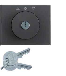 K.1 Płytka czołowa z kluczykiem do łącznika żaluzjowego obr. antracyt mat lakier Berker 1079720600