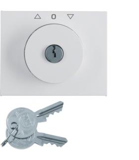 K.1 Płytka czołowa z kluczykiem do łącznika żaluzjowego obrotowego, biały Berker 1079720900