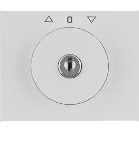 K.1 Płytka czołowa z kluczykiem do łącznika żaluzjowego obrotowego, biały Berker 1079730900
