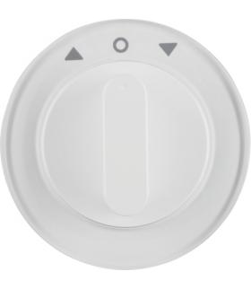 R.1/R.3 Płytka czołowa z pokrętłem do łącznika żaluzjowego obrotowego, biały Berker 1080208900