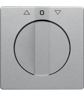 Q.x Płytka czołowa z pokrętłem do łącznika żaluzjowego obr. alu aksamitlakier Berker 1080608400