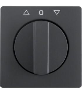 Q.x Płytka czołowa z pokrętłem do łącznika żaluzjowego obr. antracyt aksamit Berker 1080608600