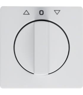 Q.x Płytka czołowa z pokrętłem do łącznika żaluzjowego obr. biały aksamit Berker 1080608900