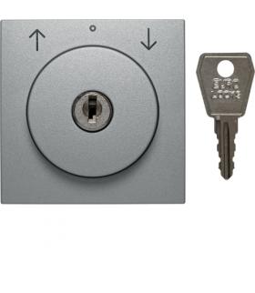 B.Kwadrat/B.7 Płytka czołowa z zamkiem do łącznika żaluzjowego na klucz,  alu Berker 1081140400