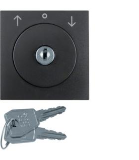 S.1/B.3/B.7 Płytka czołowa z zamkiem do łącznika żaluzjowego na klucz,  antracyt Berker 1081160600