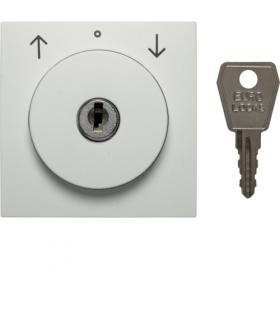S.1/B.3/B.7 Płytka czołowa z zamkiem do łącznika żaluzjowego na klucz, biały mat Berker 1081190900