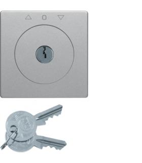 Q.x Płytka czołowa z kluczem do łącznika żaluzjowego na klucz alu, aksamit Berker 1081608400