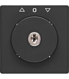 Q.x Płytka czołowa z kluczem do łącznika żaluzjowego na klucz antracyt, aksamit Berker 1081608600