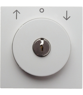 B.x Płytka czołowa z zamkiem do łącznika żal. na klucz biały połysk Berker 1081898900