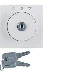 B.x Płytka czołowa z zamkiem do łącznika żaluzjowego na klucz,  biały Berker 1082190900