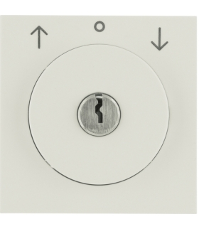 S.1 Płytka czołowa z zamkiem do łącznika żaluzjowego na klucz, kremowy, połysk Berker 1082898200