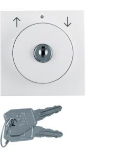 B.Kwadrat Płytka czołowa z zamkiem do łącznika żal. na klucz biały połysk Berker 1082898900
